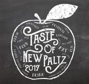 Taste of New Paltz Logo in white with black background