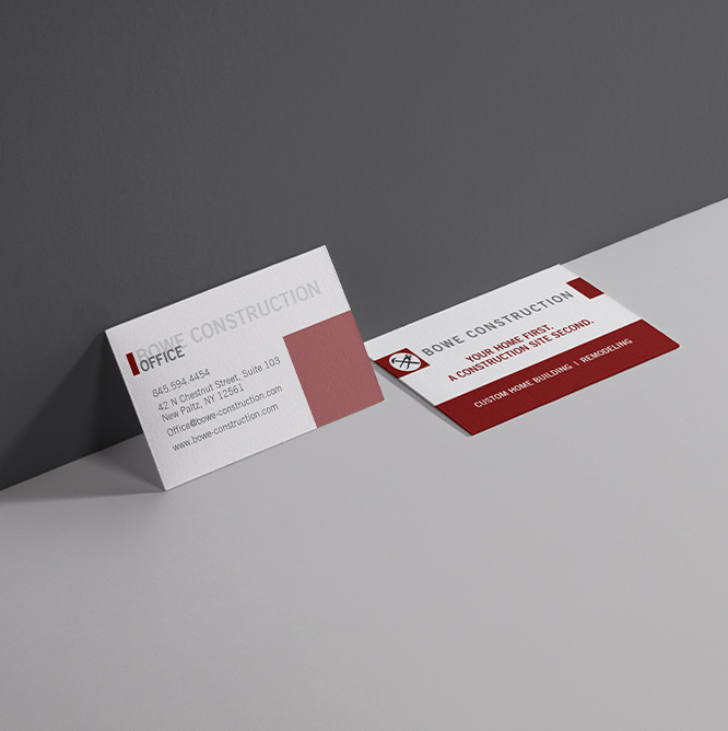 Bowe Construction Business Cards