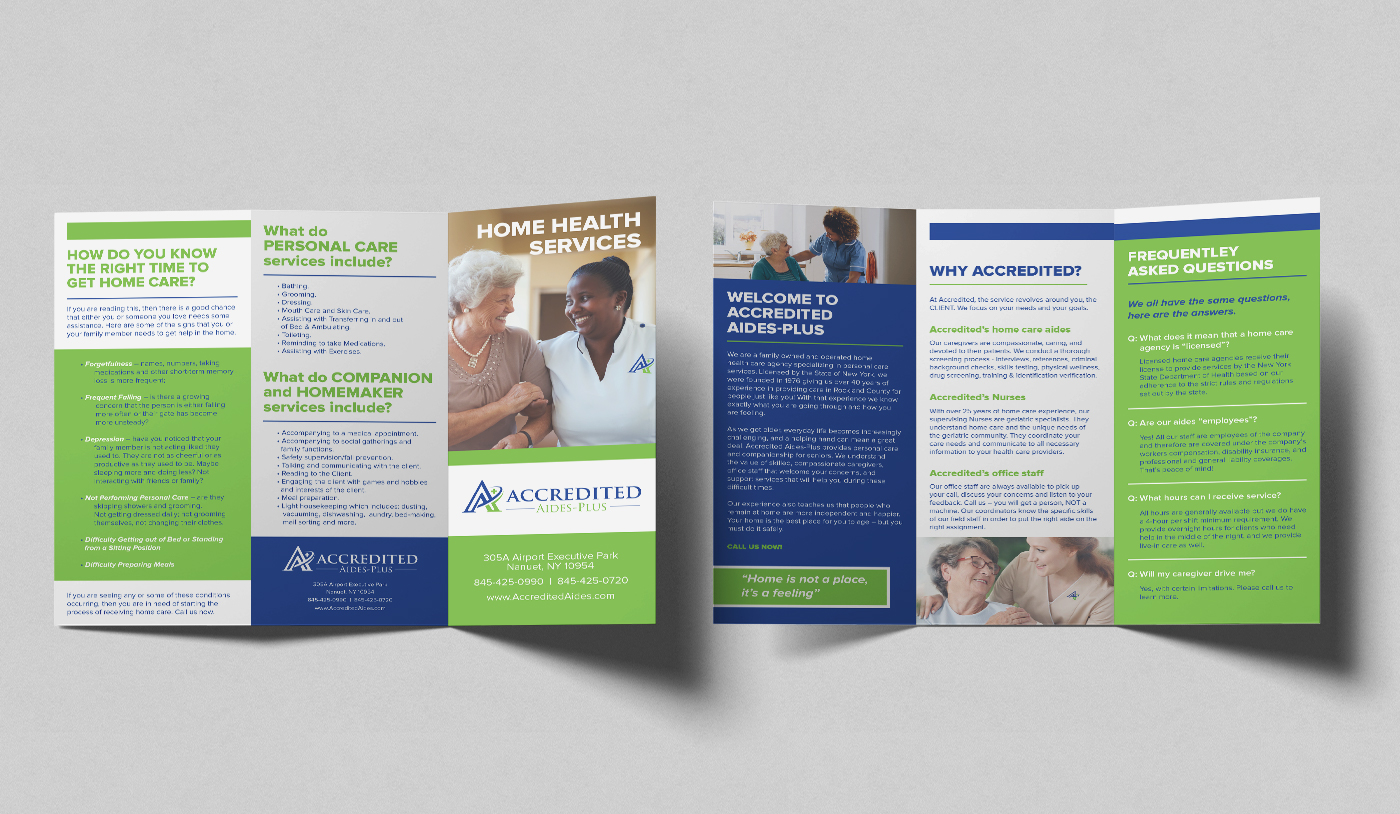 Accredited Aides Brochure Mockup