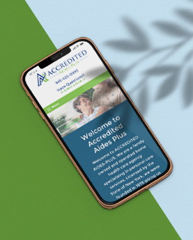 Accredited Aides-Plus Mobile Website Mockup