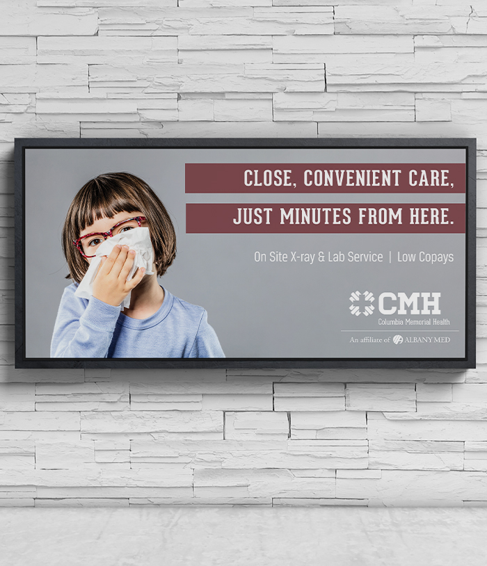 Columbia Memorial Health Rapid Care Billboard ad