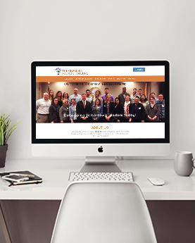 Chamber Foundation Website Redesign as a Desktop Mockup