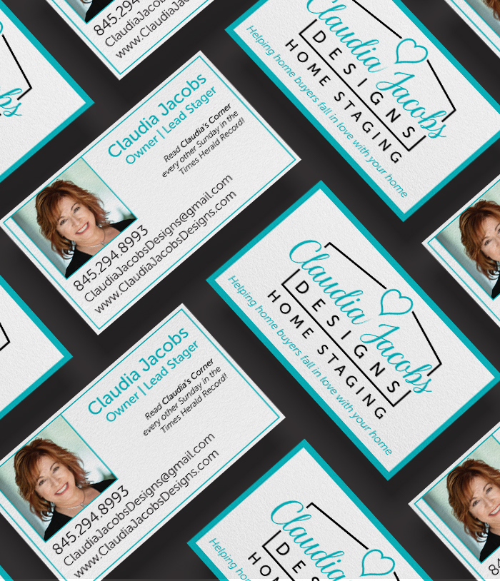 Claudia Jacobs Designs Business card mockup