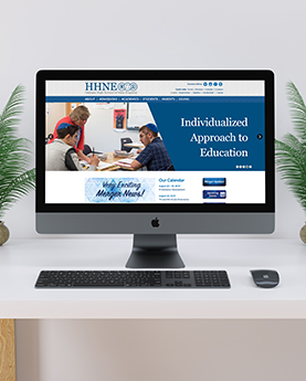 Hebrew High School of New England desktop Wordpress Website mockups