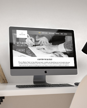 James Yastion Law Office Website mockup on a desktop ontop of a desk