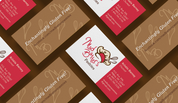 Mad Batters Business card mockup