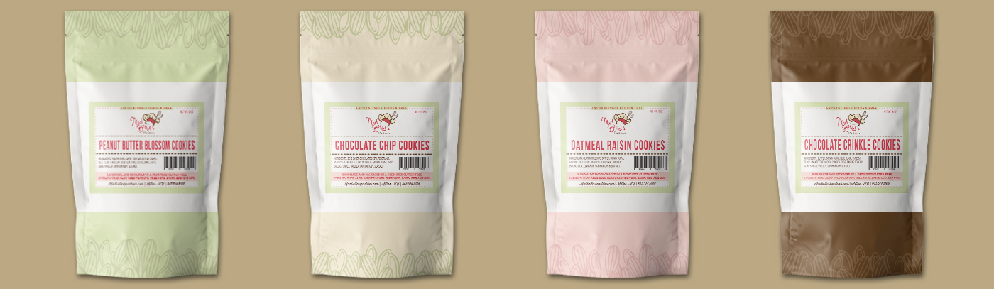 Mad Batters square label on pouches mockup