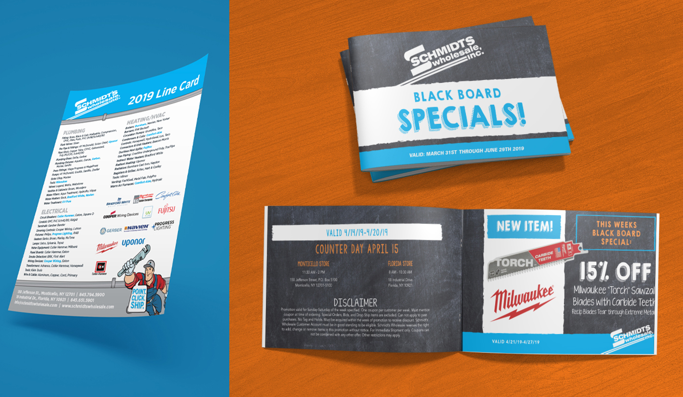 Schmidts Wholesale flyer and coupon book
