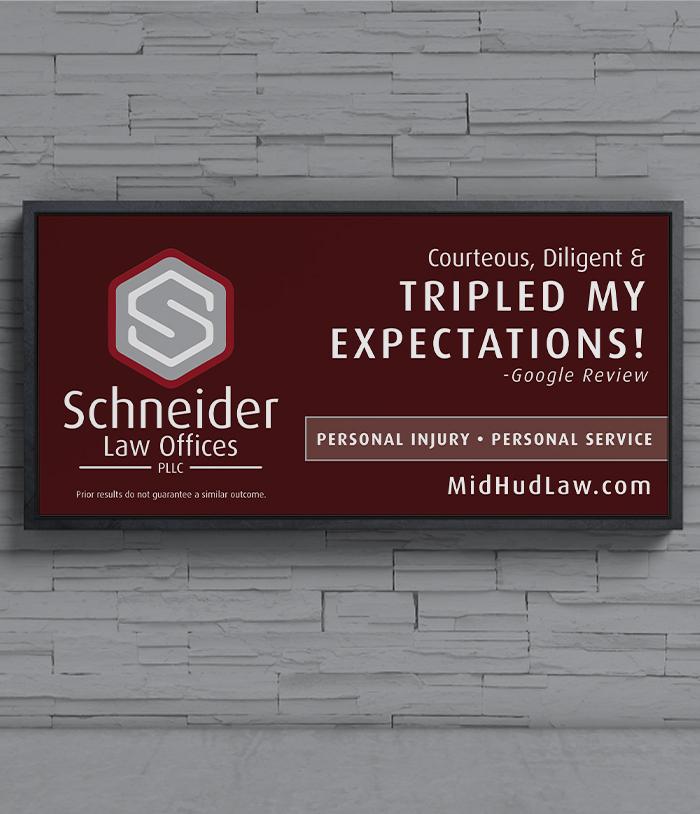 Schneider Law Offices Billboard Mockup