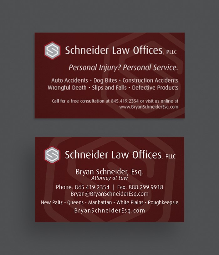 Schneider Law Offices Business Card Mockup