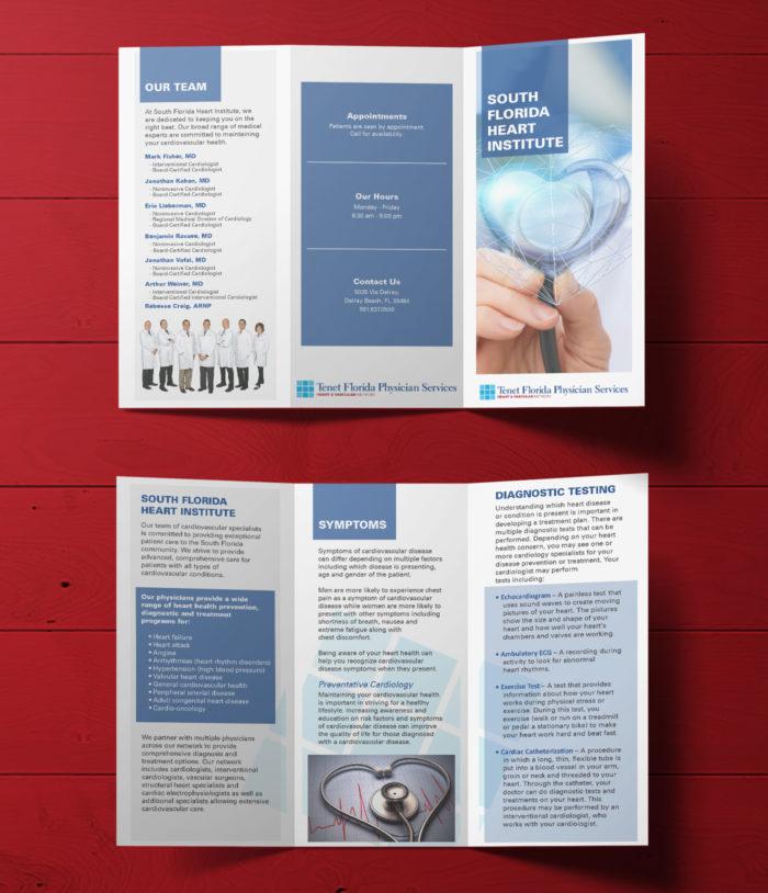 Tenet Heart brochure mockup