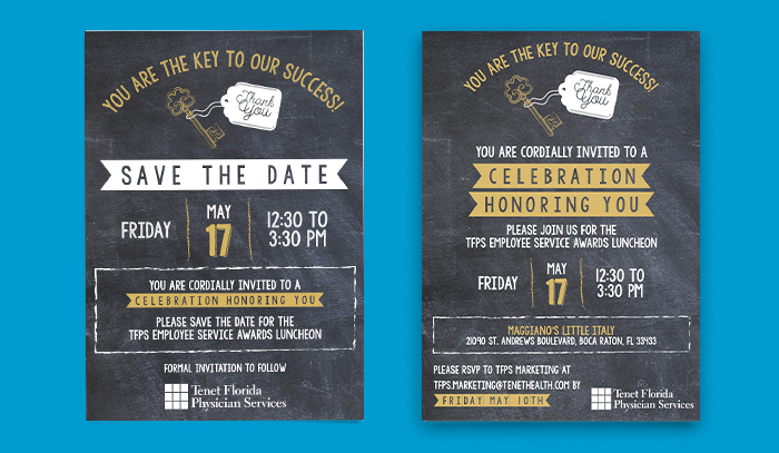 Tenet invite and save the date mockup