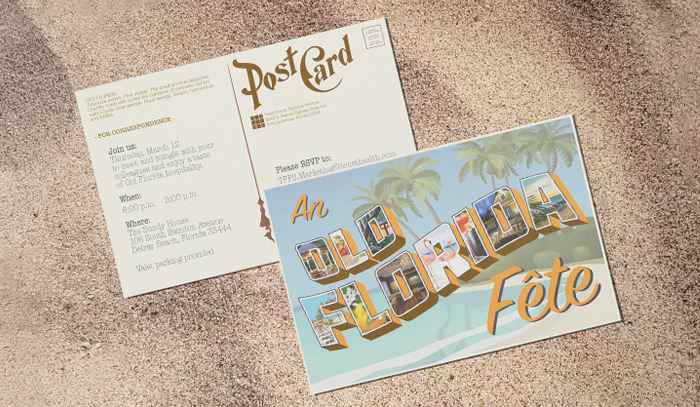 Inviation Postcard called Old Florida Fete