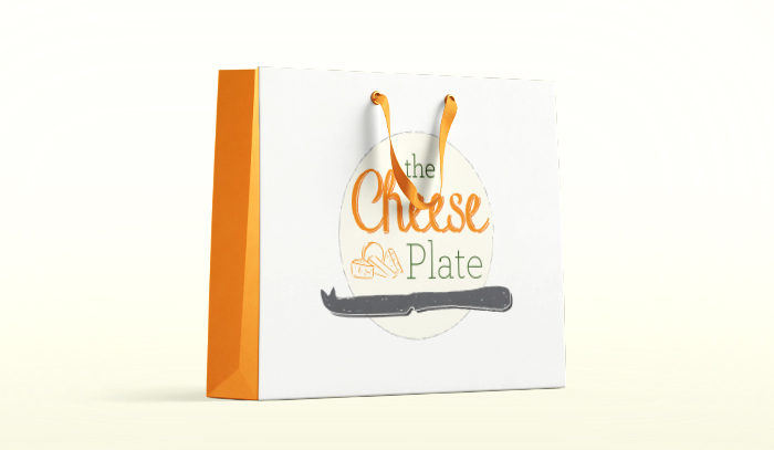 The Cheese Plate Paper Bag Mockup
