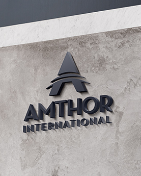 Amthor International logo as part of a comprehensive marketing campaign.