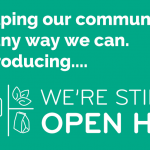 blog post cover of the logo for We're Still Open HV